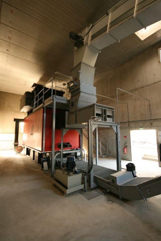 Generator gorących gazów w budynku