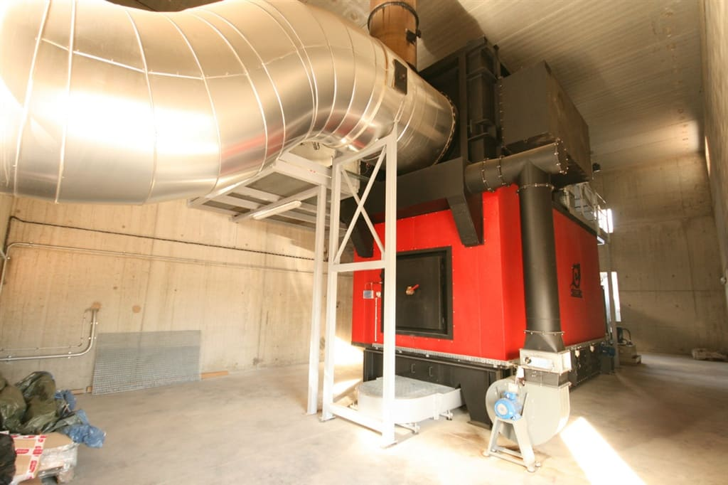 Generator gorących gazów z bliska