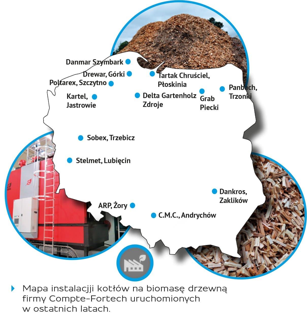 Mapa instalacji kotłów